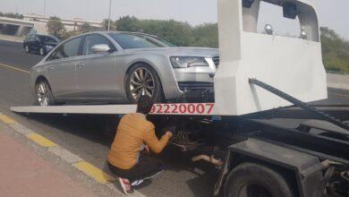 سحب السيارات المعطلة مع أقوى سطحه في الكويت